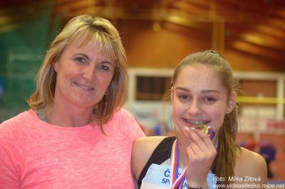 Jablonecká atletka Tereza Vokálová třikrát zlatá na šampionátech v hale