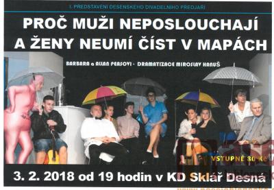 Desenské divadelní předjaří bude zahájeno 3. února 2018