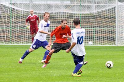 Obrazem: FK Jiskra Mšeno - Polepy (1. kolo, divize skupina C)