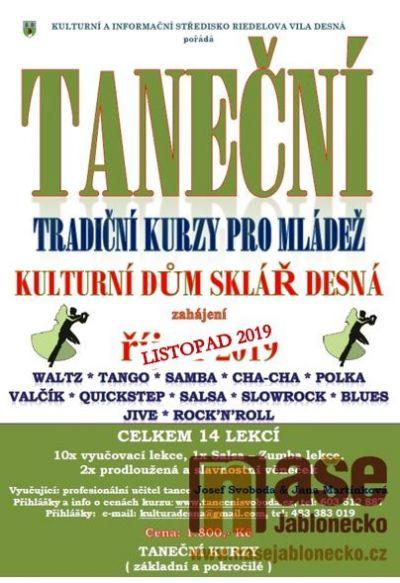 Taneční kurzy budou od listopadu probíhat v Desné