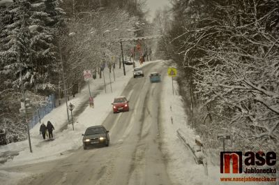 Obrazem: Březnová zima na Jablonecku