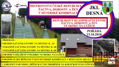 Mistrovství České republiky v severské kombinaci pořádají v Desné