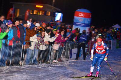 Obrazem: Biatlonová exhibice v Břízkách zakončila skvělou sezonu