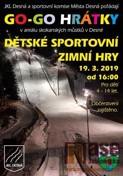 Dětské sportovní zimní hry pořádají pod můstky v Desné