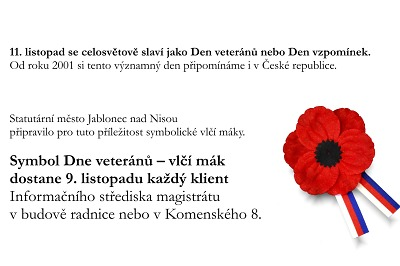 Jablonec si připomene Den veteránů