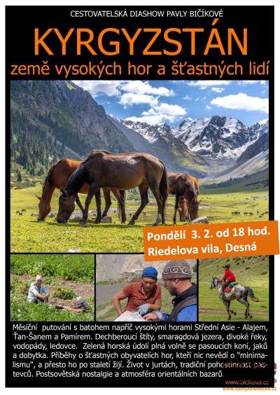Cestovatelská diashow Pavly Bičíkové v Desné o Kyrgyzstánu