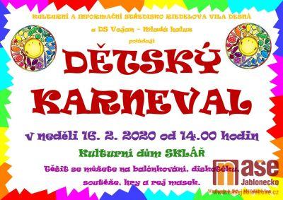 Dětský karneval chystají v Desné