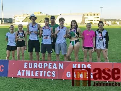 Čtyři medaile jabloneckých atletů zEvropských her mládeže vBrně
