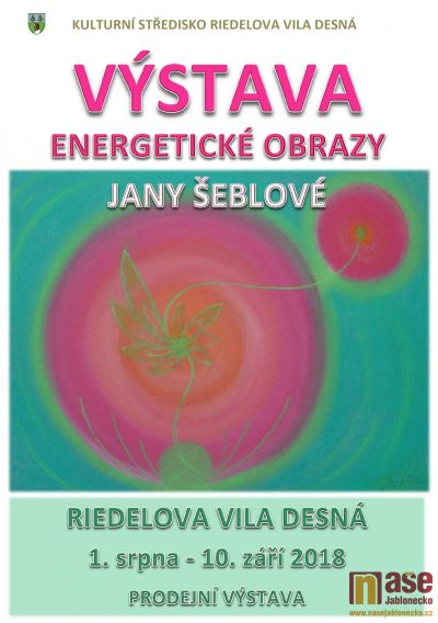 Výstava energetických obrazů Jany Šeblové v Desné