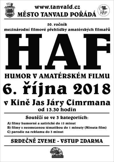Výsledky jubilejního 50. ročníku přehlídky HAF v tanvaldském kině