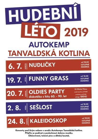 Hudební léto na Tanvaldské kotlině 2019