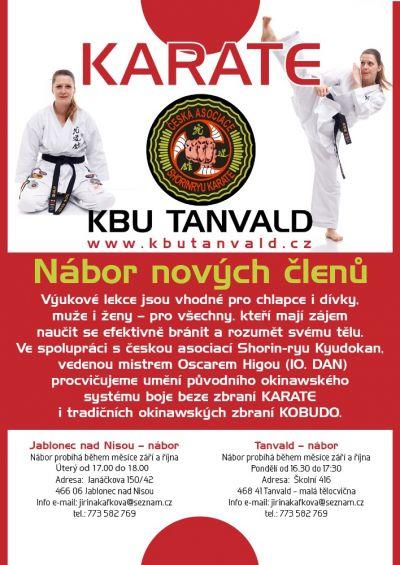 KBU Karate Tanvald zve na nábor