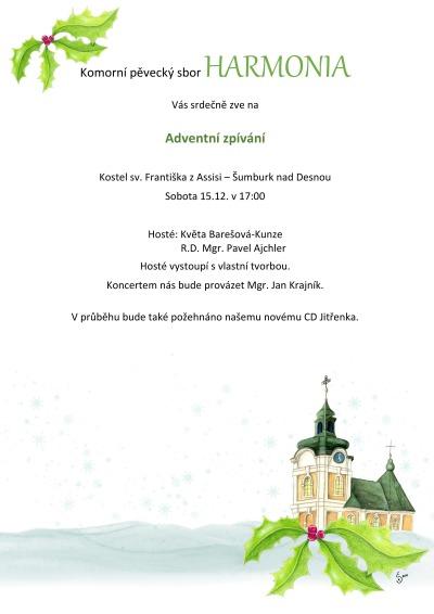 Sbor Harmonia zazpívá v kostele v Šumburku nad Desnou