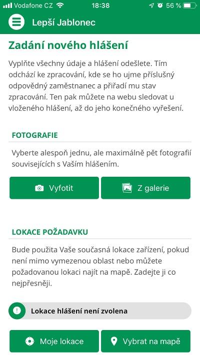 Lepší Jablonec nahrazuje mobilní aplikaci Lepší místo