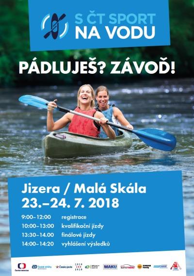 Závod S ČT sport na vodu! bude probíhat na Malé Skále