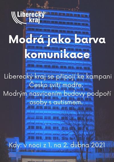 Nejvyšší budova v kraji i některé další se zahalí opět do modré