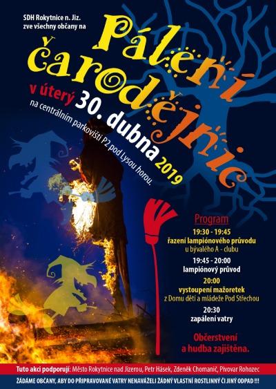 V Rokytnici budou pálit čarodějnice v úterý i sobotu
