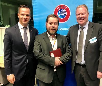 Krajský zástupce při Evropské unii se setkal i s místopředsedou UEFA