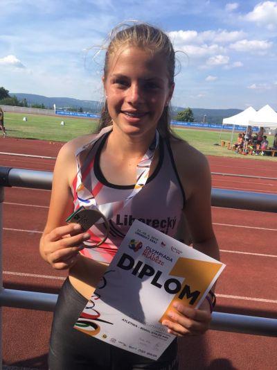 Pavla Kumstátová vybojovala zlatou medaili na olympiádě mládeže