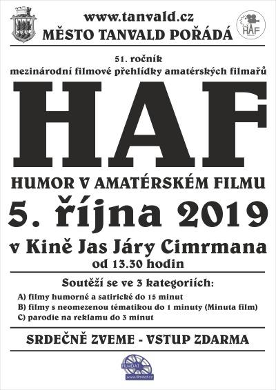 V tanvaldském kině pořádali již 51. ročník přehlídky HAF
