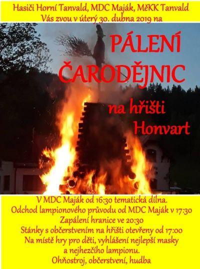 Tanvaldské pálení čarodějnic 2019