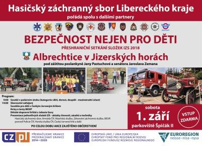 Den bezpečnosti v Albrechticích poučí 1. září nejen děti