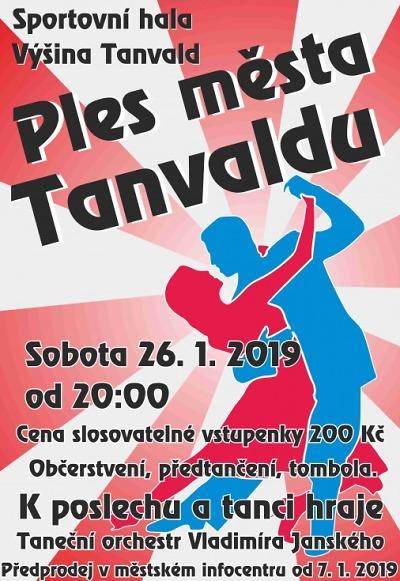 Tanvaldský ples připravují na 26. ledna