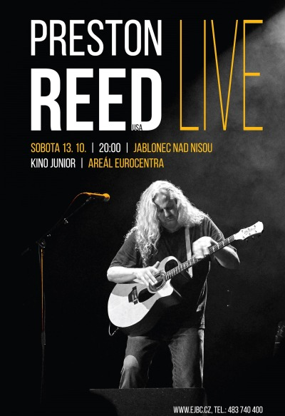 Americký kytarista Preston Reed vystoupí v jabloneckém Eurocentru