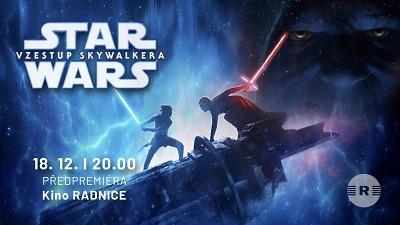 Předpremiéru Star Wars: Vzestup Skywalkera zažijete v kině Radnice