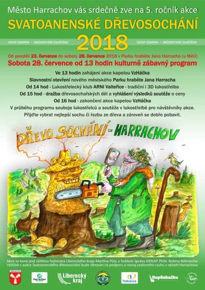 V Harrachově chystají 5. ročník akce Svatoanenské dřevosochání