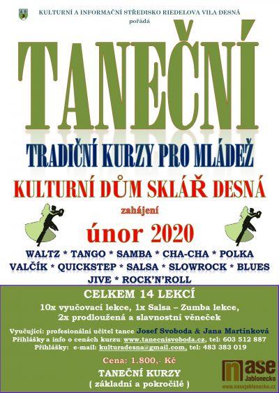 Zahájení tanečních kurzů v Desné je plánováno na únor 2020