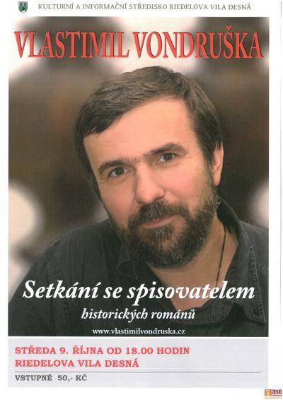 V Desné připravují setkání se spisovatelem Vlastimilem Vondruškou