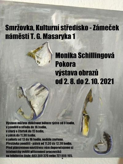 Výstavu obrazů Pokora od Moniky Schillingové uvidíte na Smržovce
