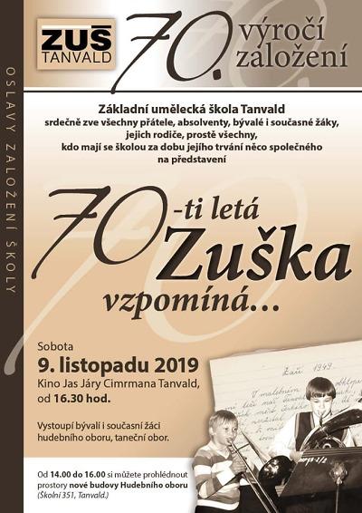 70 letá Zuška v Tanvaldě bude vzpomínat