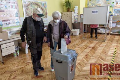 Obrazem: Parlamentní volby 2021 v Tanvaldě