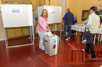 Obrazem: Parlamentní volby v Tanvaldě