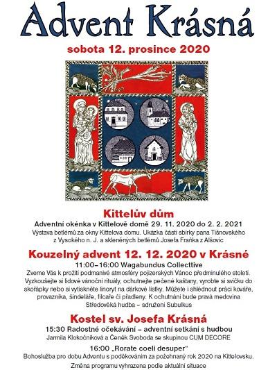 Advent Krásná slibuje několik adventních akcí na Kittelovsku