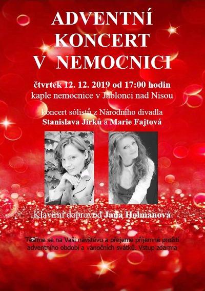 Advent v jablonecké nemocnici bude ve znamení koncertu i výstav