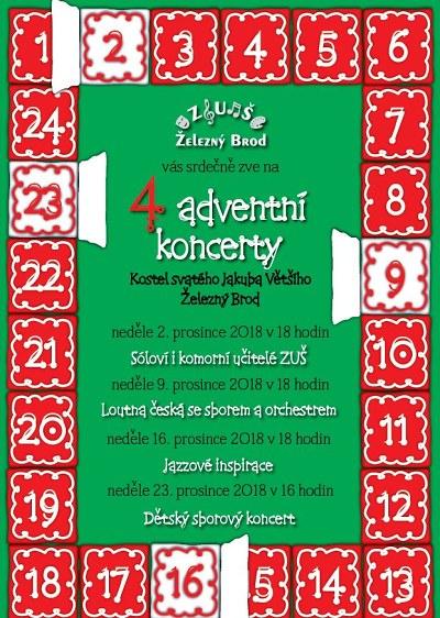 Adventní čas v Železném Brodě vyplní koncerty i další akce