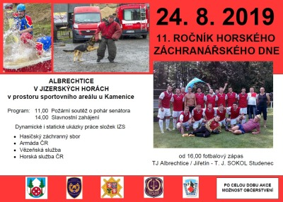 V Albrechticích zvou na záchranářský den a fotbalový zápas