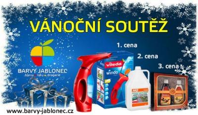 Vánoční soutěž s cenami od firmy Barvy Jablonec