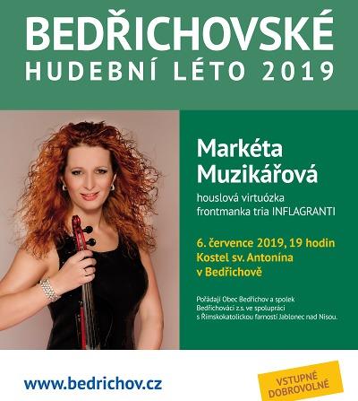 Bedřichovské hudební léto zahájí koncert Markéty Muzikářové