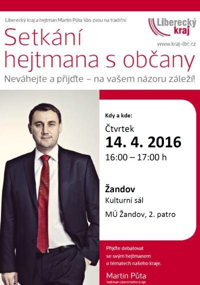 Občané Dubé a Žandova, zeptejte se hejtmana, zajímá ho i Váš názor!