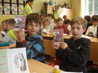 Policisté besedovali s dětmi v Albrechticích