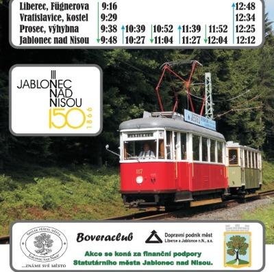 Z Liberce na Velikonoční slavnosti do Jablonce pojede historická tramvaj