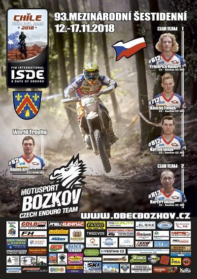 Motosport Bozkov jede na Šestidenní do Chile