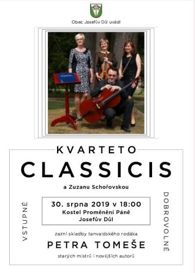 V Josefově Dole zvou na koncerty kvarteta Classicis a sboru Jiřičky