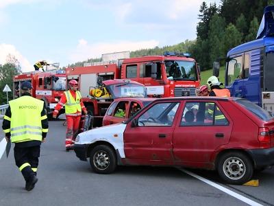 Cvičení prověřilo složky IZS na nové silnici z Liberce do Jablonce