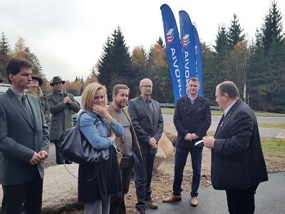 Cyklistům slouží další propojení tras mezi obcemi Rádlo a Milíře