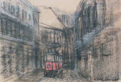 Architekt Daniel vystavuje v Belvederu kresby a malby